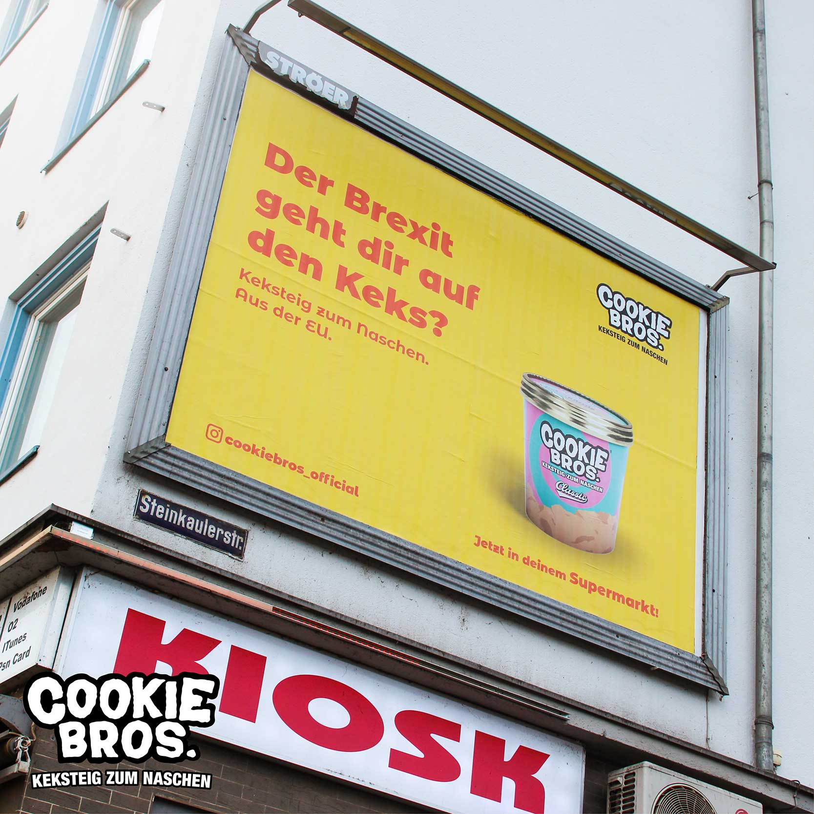 Cookie Bros. Werbung Plakat